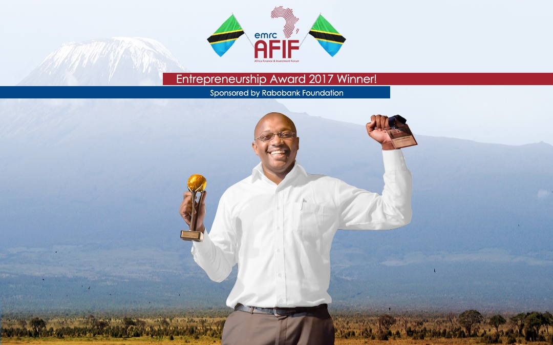 Christian Mwijage, Managing Director of Eco Act (Tanzania), Winner of the AFIF Entrepreneurship Award 2017