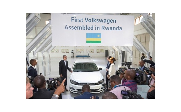 Volkswagen opens car assembly plant in Kigali